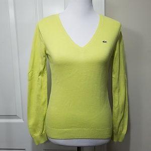 Lacoste lemon lime sweater